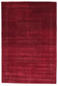 Gabbeh Loribaft Tapis 150X223 Moderne Fait Main Rouge Foncé/Rouge (Laine, Inde)