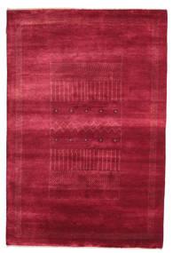 Gabbeh Loribaft Tapis 146X222 Moderne Fait Main Rouge/Rouge Foncé (Laine, Inde)