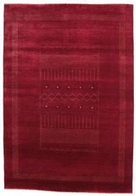 Gabbeh Loribaft Tapis 151X219 Moderne Fait Main Rouge Foncé/Rouge (Laine, Inde)