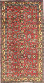 Tabriz Patina Tapis 168X318 D'orient Fait Main Rouge Foncé/Marron Clair (Laine, Perse/Iran)