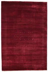 Gabbeh Loribaft Tapis 153X227 Moderne Fait Main Rouge Foncé (Laine, Inde)