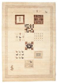 Gabbeh Loribaft Tapis 150X223 Moderne Fait Main Beige/Marron Clair (Laine, Inde)