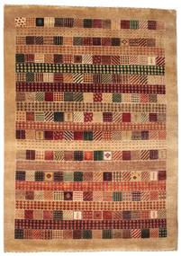 Gabbeh Loribaft Tapis 151X214 Moderne Fait Main Rouge Foncé/Marron Clair (Laine, Inde)