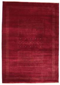 Gabbeh Loribaft Tapis 156X221 Moderne Fait Main Rouge Foncé/Rouge (Laine, Inde)