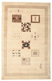 Gabbeh Loribaft Tapis 150X231 Moderne Fait Main Beige/Marron Clair (Laine, Inde)