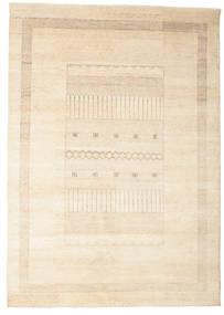 Gabbeh Loribaft Tapis 196X278 Moderne Fait Main Beige (Laine, Inde)