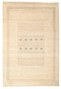 Gabbeh Loribaft Tapis 150X222 Moderne Fait Main Beige/Marron Clair (Laine, Inde)