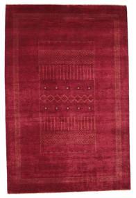 Gabbeh Loribaft Tapis 151X230 Moderne Fait Main Rouge/Rouge Foncé (Laine, Inde)