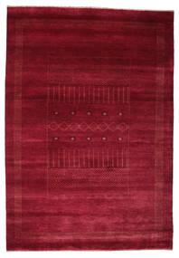 Gabbeh Loribaft Tapis 153X220 Moderne Fait Main Rouge Foncé/Rouge (Laine, Inde)