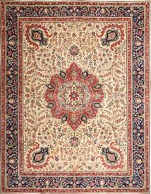 Tabriz Patina Tapis 305X390 D'orient Fait Main Marron Clair/Beige Grand (Laine, Perse/Iran)