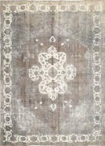 Colored Vintage Tapis 285X393 Moderne Fait Main Gris Clair/Beige Foncé Grand (Laine, Perse/Iran)