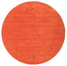 Loribaf Loom Tapis Ø 202 Moderne Fait Main Rond Orange/Rouge (Laine, Inde)