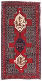 Senneh Patina Tapis 145X299 D'orient Fait Main Marron Foncé/Rouge (Laine, Perse/Iran)