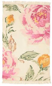 Kilim Karabagh Sofia - Beige/Off-Blanc Tapis 100X160 Moderne Tissé À La Main Beige/Rose Clair (Laine, Inde)