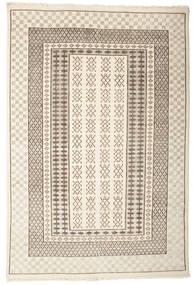 Sandor Tapis 140X200 Moderne Fait Main Gris Clair/Beige (Laine, Inde)