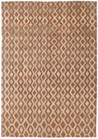 Kilim Moderne Tapis 201X285 Moderne Tissé À La Main Marron/Gris Clair (Laine, Afghanistan)