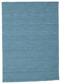 Kilim Loom - Bleu Tapis 140X200 Moderne Tissé À La Main Bleu Turquoise/Bleu (Laine, Inde)