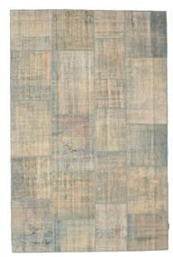 Patchwork Tapis 197X301 Moderne Fait Main Gris Clair/Gris Foncé (Laine, Turquie)