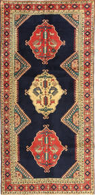 Ardabil Tapis 145X303 D'orient Fait Main Tapis Couloir Violet Foncé/Rouge Foncé (Laine, Perse/Iran)
