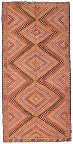 Kilim Semi-Antique Turquie Tapis 147X298 D'orient Tissé À La Main Rouge Foncé/Marron Clair (Laine, Turquie)