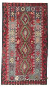 Kilim Semi-Antique Turquie Tapis 155X279 D'orient Tissé À La Main Marron Foncé/Rouge (Laine, Turquie)