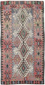 Kilim Semi-Antique Turquie Tapis 158X306 D'orient Tissé À La Main Gris Foncé/Gris Clair (Laine, Turquie)