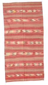 Kilim Semi-Antique Turquie Tapis 134X274 D'orient Tissé À La Main Rouge Foncé/Rouille/Rouge/Rose Clair (Laine, Turquie)