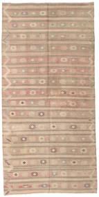 Kilim Semi-Antique Turquie Tapis 141X290 D'orient Tissé À La Main Marron Clair (Laine, Turquie)