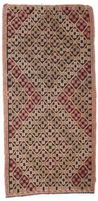 Kilim Semi-Antique Turquie Tapis 132X277 D'orient Tissé À La Main Marron Foncé/Rouge Foncé (Laine, Turquie)