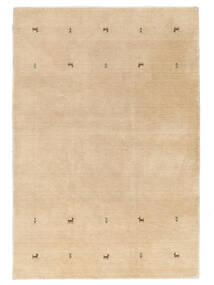Gabbeh Loom Two Lines - Beige Tapis 140X200 Moderne Jaune/Beige Foncé (Laine, Inde)