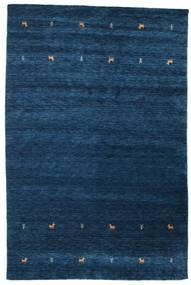 Gabbeh Loom Two Lines - Bleu Foncé Tapis 190X290 Moderne Bleu Foncé (Laine, Inde)