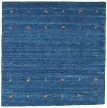 Gabbeh Loom Two Lines - Bleu Tapis 200X200 Moderne Carré Bleu Foncé/Bleu (Laine, Inde)