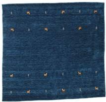 Gabbeh Loom Two Lines - Bleu Foncé Tapis 200X200 Moderne Carré Bleu Foncé (Laine, Inde)
