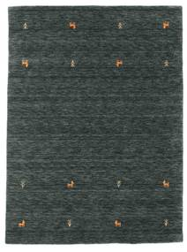 Gabbeh Loom Two Lines - Gris Foncé/Vert Tapis 140X200 Moderne Noir/Gris Foncé/Vert Foncé (Laine, Inde)