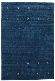 Gabbeh Loom Two Lines - Bleu Foncé Tapis 160X230 Moderne Bleu Foncé (Laine, Inde)