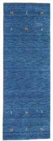 Gabbeh Loom Two Lines - Bleu Tapis 80X250 Moderne Tapis Couloir Bleu Foncé/Bleu (Laine, Inde)