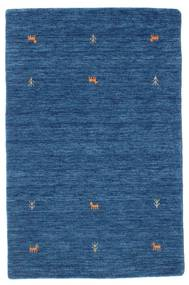 Gabbeh Loom Two Lines - Bleu Tapis 100X160 Moderne Bleu Foncé/Bleu (Laine, Inde)
