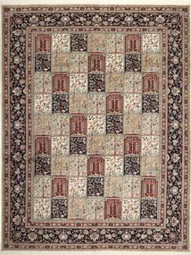 Yazd Tapis 302X393 D'orient Fait Main Gris Clair/Marron Clair Grand (Laine, Perse/Iran)