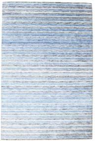 Bambou Soie Handloom Tapis 202X304 Moderne Fait Main Bleu Clair/Beige ( Inde)