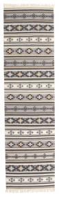 Kilim Cizre Tapis 80X300 Moderne Tissé À La Main Tapis Couloir Gris Clair/Beige (Laine, Inde)