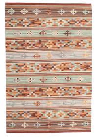 Kilim Anatolian Tapis 100X160 Moderne Tissé À La Main Rouge Foncé/Gris Clair (Laine, Inde)