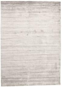Bambou Soie Loom - Warm Gris Tapis 160X230 Moderne Gris Clair/Blanc/Crème ( Inde)
