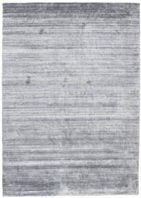Bambou Soie Loom - Denim Bleu Tapis 140X200 Moderne Bleu Clair/Gris Clair (Laine/Soie De Bambou, Inde)