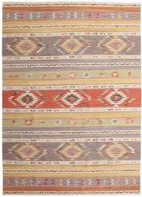 Kilim Nimrud Tapis 240X340 Moderne Tissé À La Main Gris Clair/Beige Foncé (Laine, Inde)