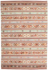 Kilim Anatolian Tapis 190X290 Moderne Tissé À La Main Rouge Foncé/Gris Clair (Laine, Inde)