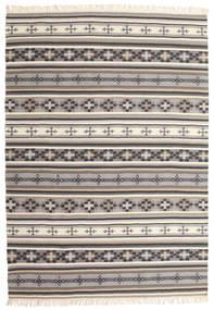 Kilim Cizre Tapis 160X230 Moderne Tissé À La Main Gris Clair/Beige (Laine, Inde)