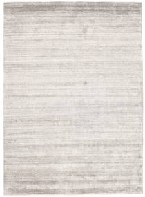 Bambou Soie Loom - Warm Gris Tapis 140X200 Moderne Gris Clair ( Inde)