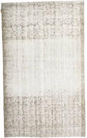 Colored Vintage Tapis 160X267 Moderne Fait Main Gris Clair/Beige Foncé/Blanc/Crème (Laine, Turquie)