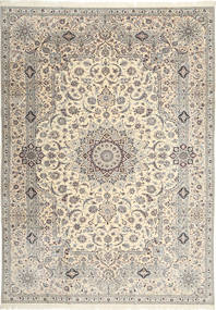Naïn 6La Habibian Tapis 242X348 D'orient Fait Main Gris Clair/Beige (Laine/Soie, Perse/Iran)