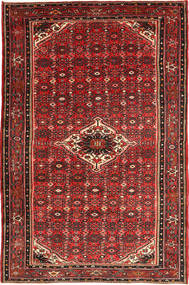 Hosseinabad Tapis 195X305 D'orient Fait Main Rouge Foncé/Rouille/Rouge (Laine, Perse/Iran)